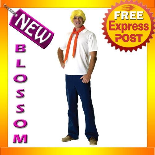C57 Mens Scooby-Doo Fred Halloween Fancy Dress Adult Costume