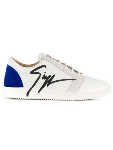 55ZU Giuseppe Zanotti sneaker man leather white