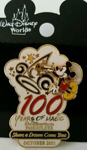 Disney-WDW-Pin-100-Years-of-Magic-Share-a-Dream-Come-True-Passholder-Hinge-2001