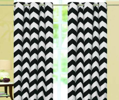 Chevron Insulated 100/% Thermal Blackout Grommet Window Curtain All Sizes SALE!!!