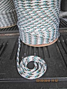 "1//4/"" X 100/'Anchor Line,Halyard line Polyester Double braid 2100 lb USA Black"