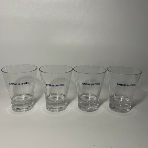 """New 4 Bombay Sapphire Gin 4.25/"""" 12oz Acrylic Drinking Glass//Cup Promotional"""