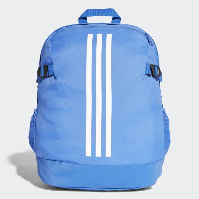 036aac8f3a3 adidas 3-stripes Power Backpack Rucksack Work Sports Gym School Bag CG0494  Blue   eBay