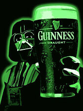 Guinness Star wars , Retro metal Aluminium Sign vintage Games Room pub bar