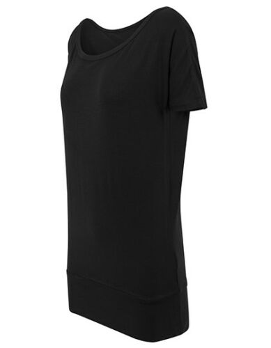 Damen T shirt lang schwarz Oberteil Bluse