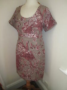 JOULES-Nadia-Linen-amp-Silk-Dress-RRP-129-Sz-8-FreeUKP-amp-P