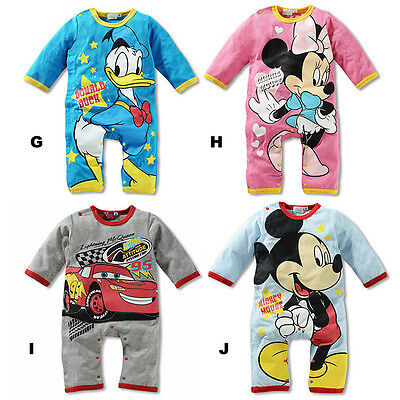 4 Style Baby Boys Girls Bodysuit Outfit Costume Romper Clothes Set 0-18M