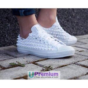 Star U Clouté La All Tacks Chaussures Cone Total Main Converse Blancs À Z5aqfw