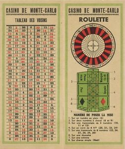 Monaco Casino De Monte Carlo Roulette Notes Ebay