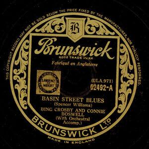 BING CROSBY & CONNIE BOSWELL Basin Street Blues / Bob White 78rpm X886 - Berlin, Deutschland - BING CROSBY & CONNIE BOSWELL Basin Street Blues / Bob White 78rpm X886 - Berlin, Deutschland
