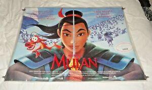 Mulan Original UK Quad Movie Cinema Poster 1998 Disney