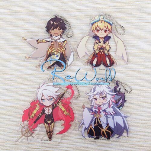 Japan Anime Fate Grand Order Acrylic Stand Figure Charm Keychain Merlin Karna