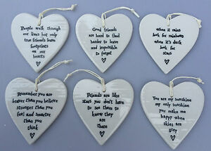 EAST-OF-INDIA-Porcelain-Hanging-Heart-Six-Designs-Love-Friends-Rainbows