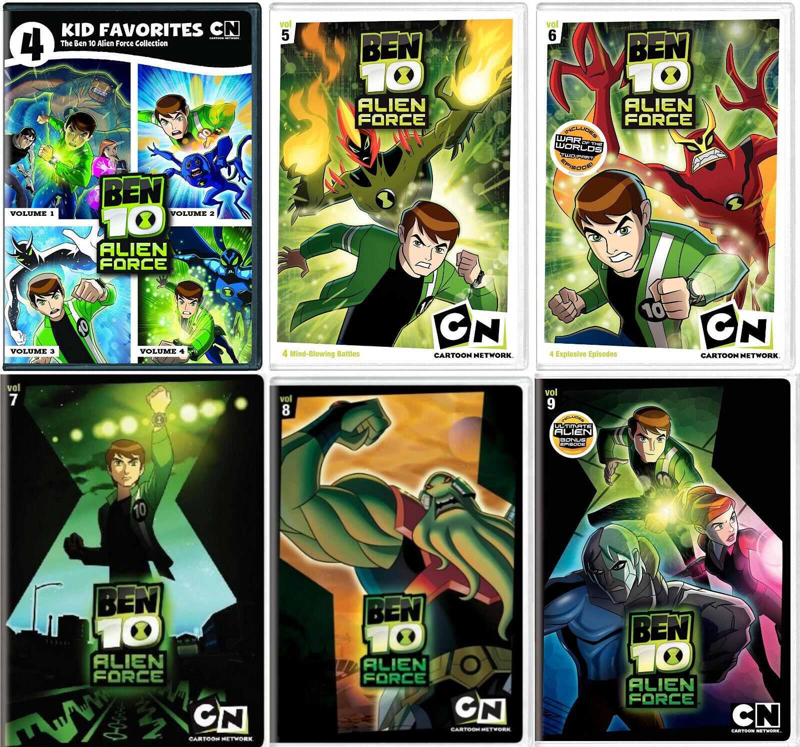 Ben 10 Alien Force Series Complete Volumes 1-9 (1 2 3 4 5 6 7 8 9) NEW DVD  SET