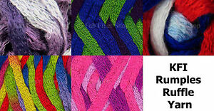 KFI-Rumples-Bulky-Ruffle-Scarf-Trim-Yarn-100g-Color-Choice-Knit-Crochet-FS