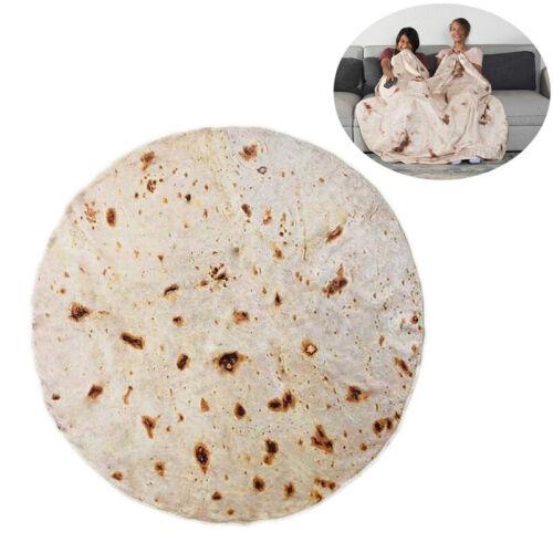 3D Tortilla Blanket Burrito Kuscheldecke Wohndecke Wolldecke 150//180cm Geschenk