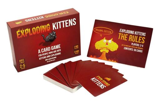 Exploding Kittens A Card Game Kittens Explosions Family Friendly Party Game