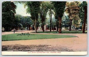 Westfield-Massachusetts-Court-Street-Opposite-Town-Hall-Man-Approaches-Park-1907