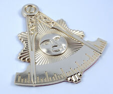 """Masonic Past Master 3"""" Metal car Emblem 3D  Mason sun gold color decal MAS13"""
