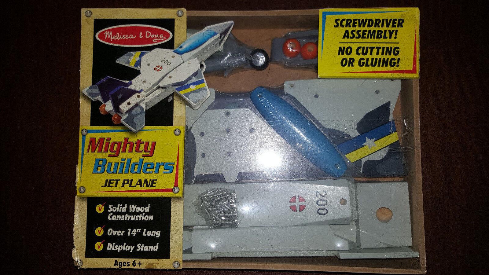 MELISSA & DOUG Deluxe Wooden Mighty Builders Jet Plane