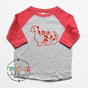 be92ed1f Second Birthday Shirt Toddler Boy/Girl - Dinosaur 2 Shirt Birthday ...
