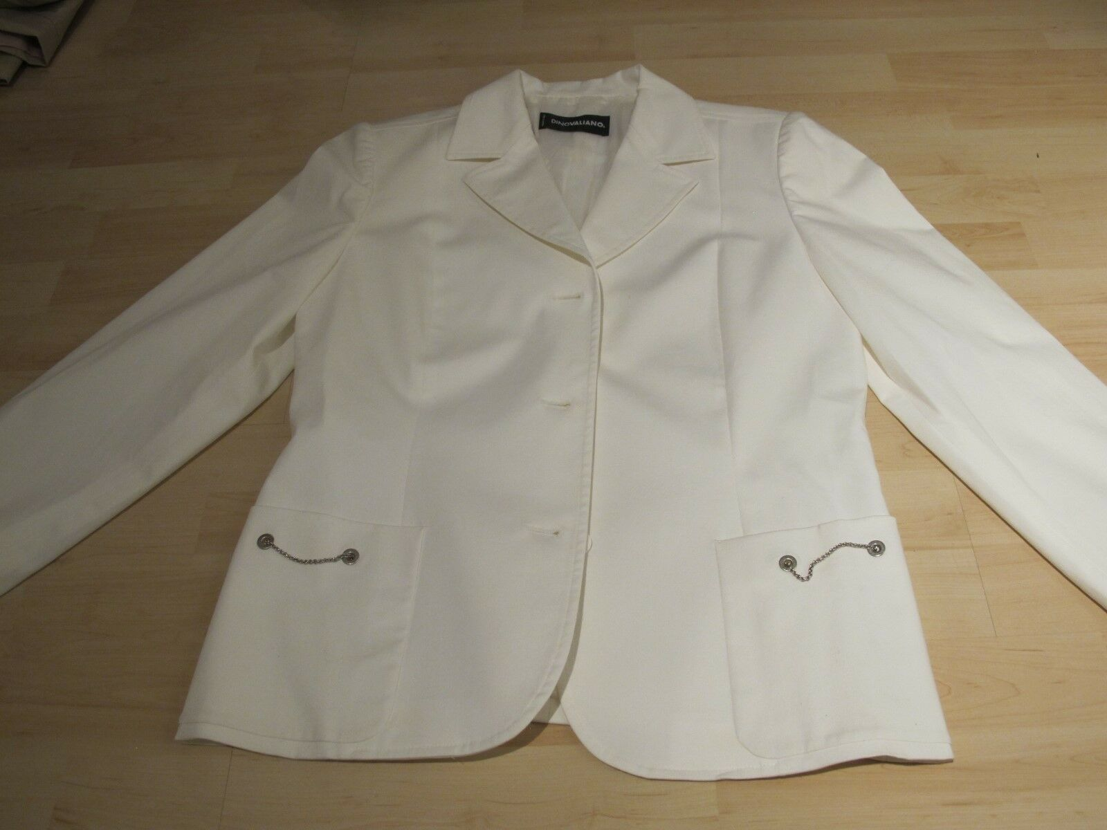 Dino Valiano * Blazer Jacket * White * Size 38 * Top