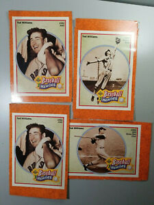 1992-Upper-Deck-Ted-Williams-Baseball-Heroes-Lot-of-4
