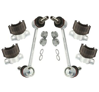 Pair Set of 2 Front Right Stabilizer Sway Bar Bushings w// Brackets Febi For W164