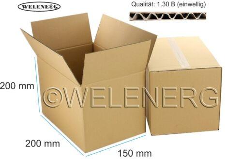 Marron 300 étuis 200x150x200mm b-400g//m2 carton d/'expédition gamme CARTONS