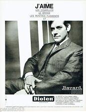PUBLICITE ADVERTISING 115  1966  DIOLEN costume homme BAYARD