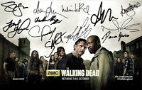 """THE WALKING DEAD - GLOSSY 12"""" x 8"""" MINI POSTER PHOTO PRINT - CAST SIGNED"""