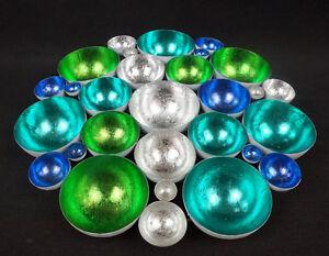 Rondell Farbenspiel Turkis Silber 40 H9737 Adventsdeko