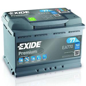 exide autobatterie 77ah 12v premium carbon boost ea770. Black Bedroom Furniture Sets. Home Design Ideas