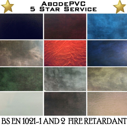 FAUX PREMIUM QUALITY LEATHER MATERIAL LEATHERETTE PVC VINYL UPHOLSTERY FABRIC
