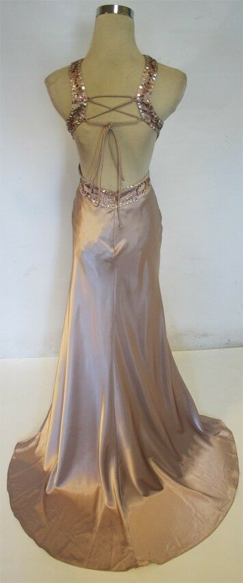 NWT MORGAN MORGAN MORGAN & CO  190 TAUPE Formal Evening Prom Gown 1 783afc