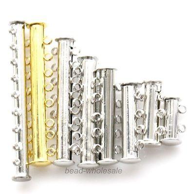 2Sets New Arrvial Metal Magnet Clasp Bails Connectors Silver/Gold Tone 2-9 Rows