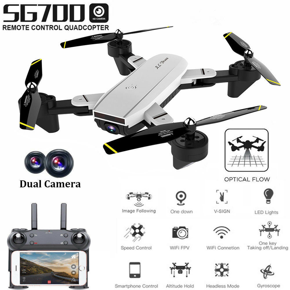 SG700 Foldable RC Quadcopter Optical Flow 2MP HD Camera Wifi FPV 6-Axis Drone