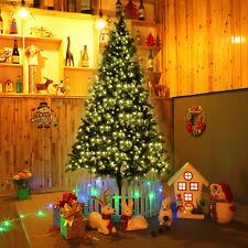 7 ft Pre-lit Artificial Christmas Tree w/350 LED Lights & Stand Holiday Season