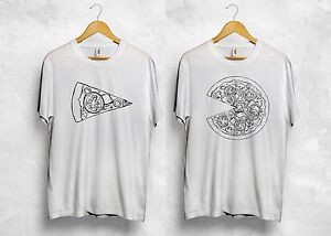 569b4fa7b Image is loading Pizza-Matching-T-Shirt-Couple-Valentines-Food-Love-