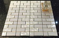 Metallic Silver Stainless Steel Mosaics Sheet Tile Random Modular Splashback 054