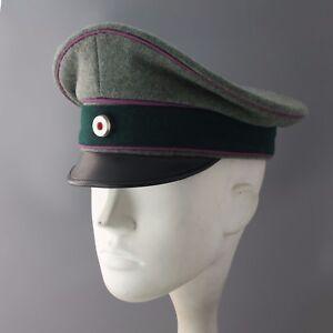 ce0e4810fbd REPLICA WW2 German Army Chaplins Officers Visor Hat Cap Schirmmutze ...