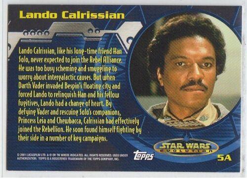 Evolution /'A/' /& /'B/' Star Wars Evolution 2001 Foil Chase Card Selection