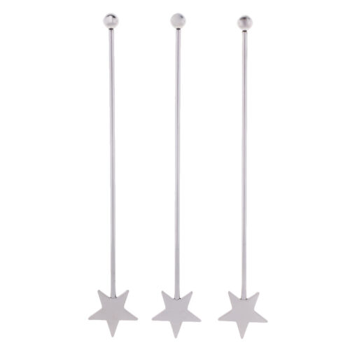 Stainless Steel Bar Coffee Beverage Stirrers Cocktail Swizzle Stick Tool A