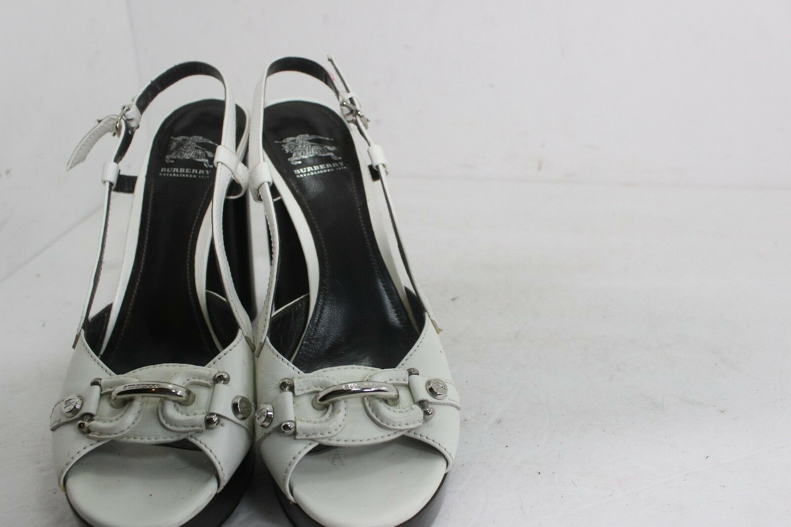 BURBERRY PLATFORM MADE Weiß MADE PLATFORM IN ITALY SZ 40.5 USA 10 IN GREAT CONDITION 90e91d