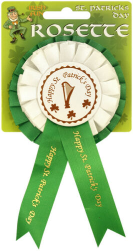 6 x Irish St Patrick/'s Day Rosetta Distintivo Costume Accessorio Ricordo 6