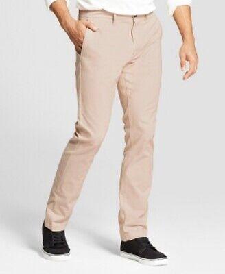 Goodfellow Men/'s 38X30 Slim Fit Hennepin Chino Pants Peach ~NEW~