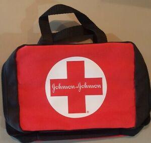 Johnson & Johnson First Aid Kit Bags Pouch Emergency w/ Zipper