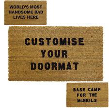 JVL Personalised Custom Coir Door Mat 40x70cm Wedding Home Gift House Warming