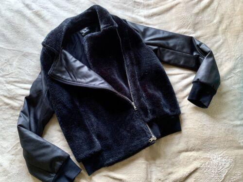 Black Ladies Fur Exchange Armani Jacket Bomber Faux a5qIaUnxB