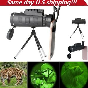 40X60-Zoom-Optical-HD-Lens-Monocular-Telescope-Tripod-Clip-For-Universal-Phone